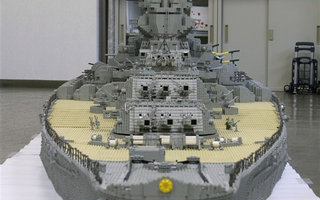 The biggest battleship ever - in lego world | In a feat of LEGO naval engineering rivaled only by Malle Hawking's USS Harry S Truman and Ed Diment's HMS Hood, Jumpei Mitsui (JunLEGO) made lego model  of  World War II battleship Yamato.