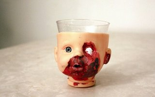 Disturbing Cups With Doll Heads | Since ancient times, dolls have played a central role in magic and religious rituals, or used as representations of a deity.