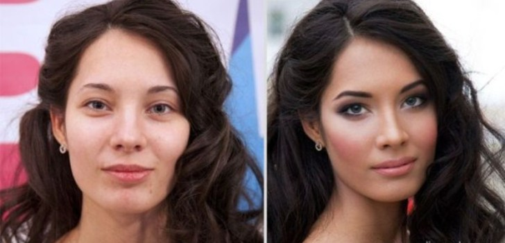 Ordinary Russian Girls Before and After Makeup | Photos of girls from Saint Petersburg, Russia before and after makeup.