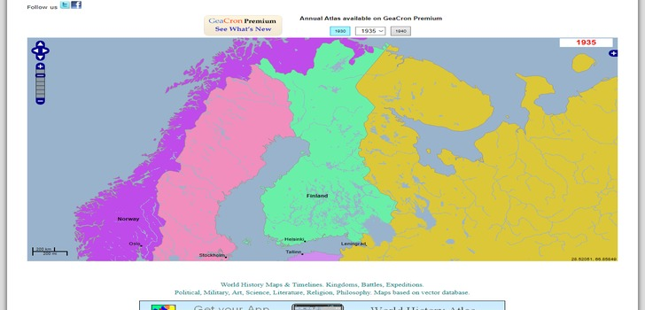 Interaktiivinen historiankartta | Interactive World History Atlas since 3000 BC