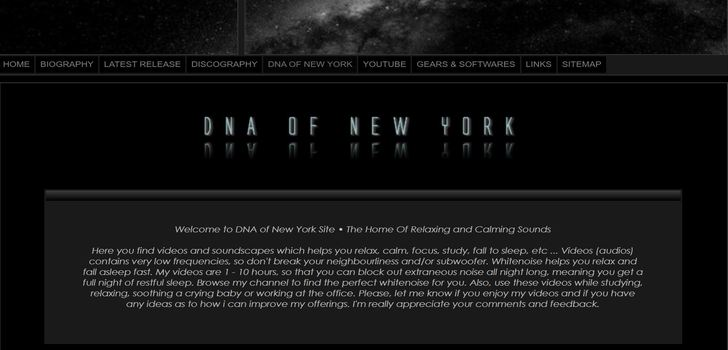 Welcome to DNA of New York Site • The Home Of Relaxing and Calming Sounds | Roppakaupalla Relaxing Kamaa!!